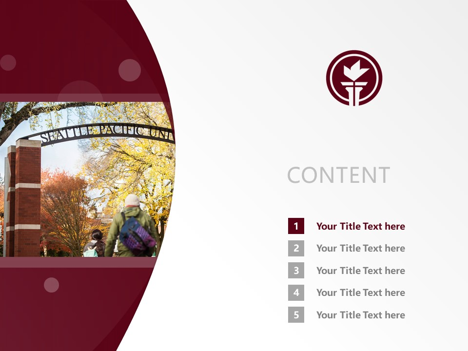 Seattle Pacific University Powerpoint Template Download | 西雅图太平洋大学PPT模板下载_幻灯片2
