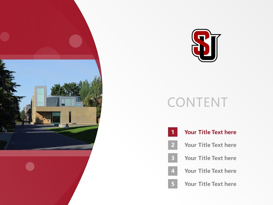 Seattle University Powerpoint Template Download | 西雅图大学PPT模板下载_幻灯片2