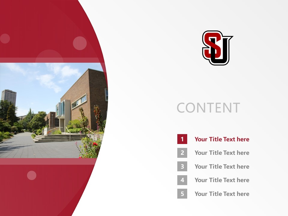Seattle University School of Theology and Ministry Powerpoint Template Download | 西雅图大学神学院PPT模板下载_幻灯片2