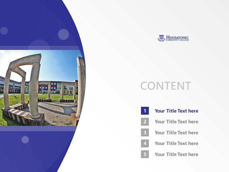 Housatonic Community College Powerpoint Template Download | 休萨托尼克社区学院PPT模板下载_幻灯片2