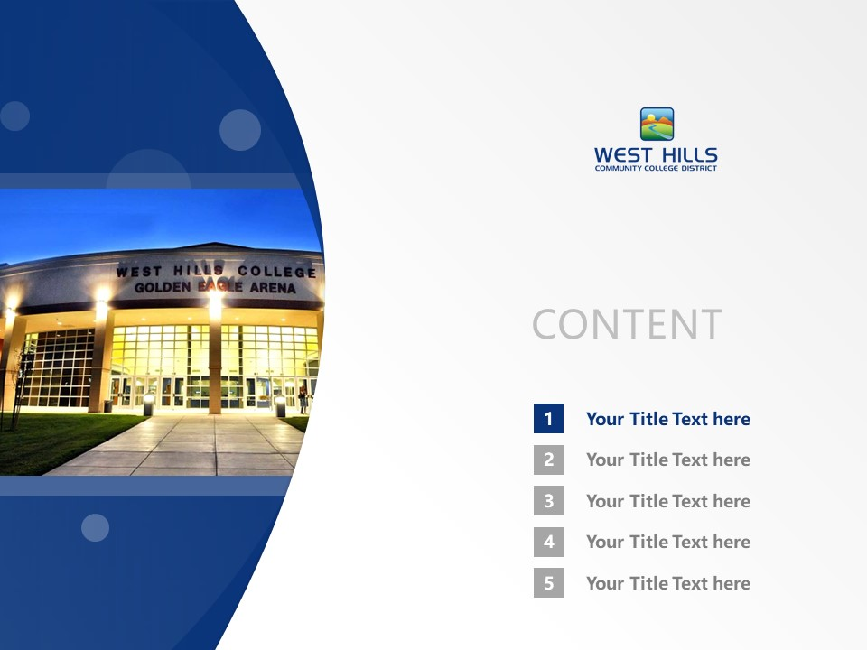West Hills Community College Powerpoint Template Download | 西山社区学院PPT模板下载_幻灯片2