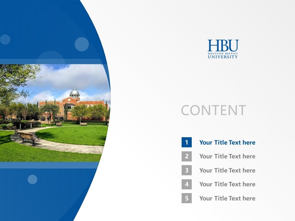 Houston Baptist University Powerpoint Template Download | 休斯顿浸会大学PPT模板下载_幻灯片2