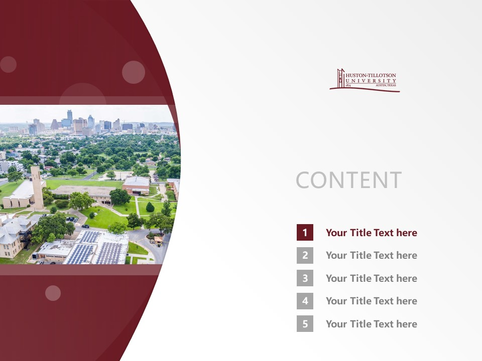 Huston-Tillotson College Powerpoint Template Download | 休斯顿蒂罗森学院PPT模板下载_slide2