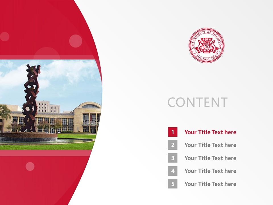 University of Houston Powerpoint Template Download | 休斯顿大学PPT模板下载_幻灯片2