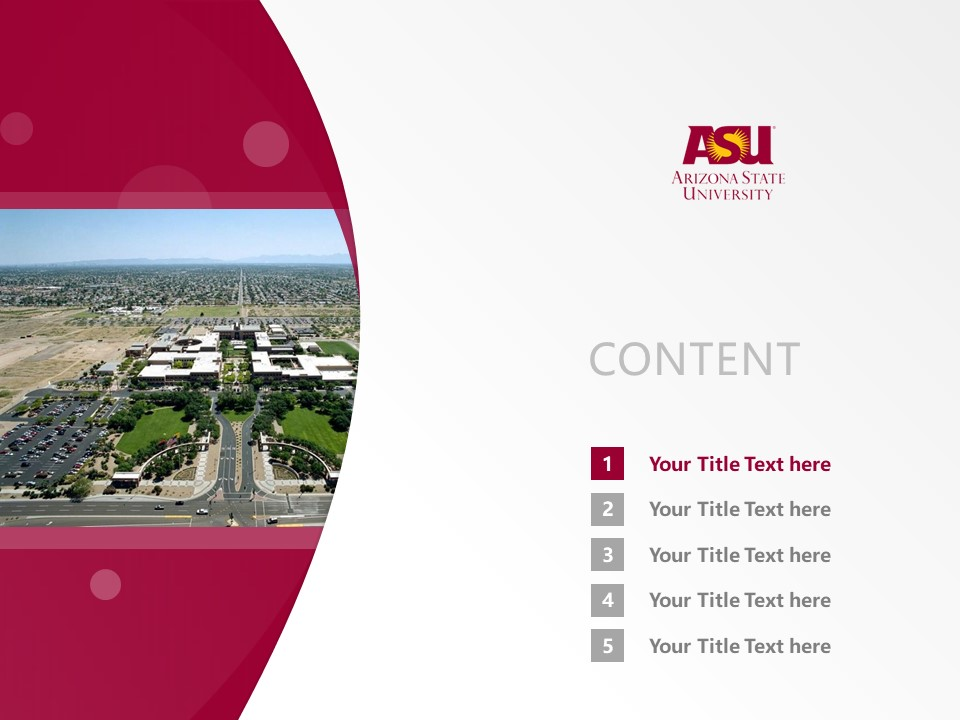 Arizona State University West Powerpoint Template Download | 西亚利桑那州立大学PPT模板下载_slide2