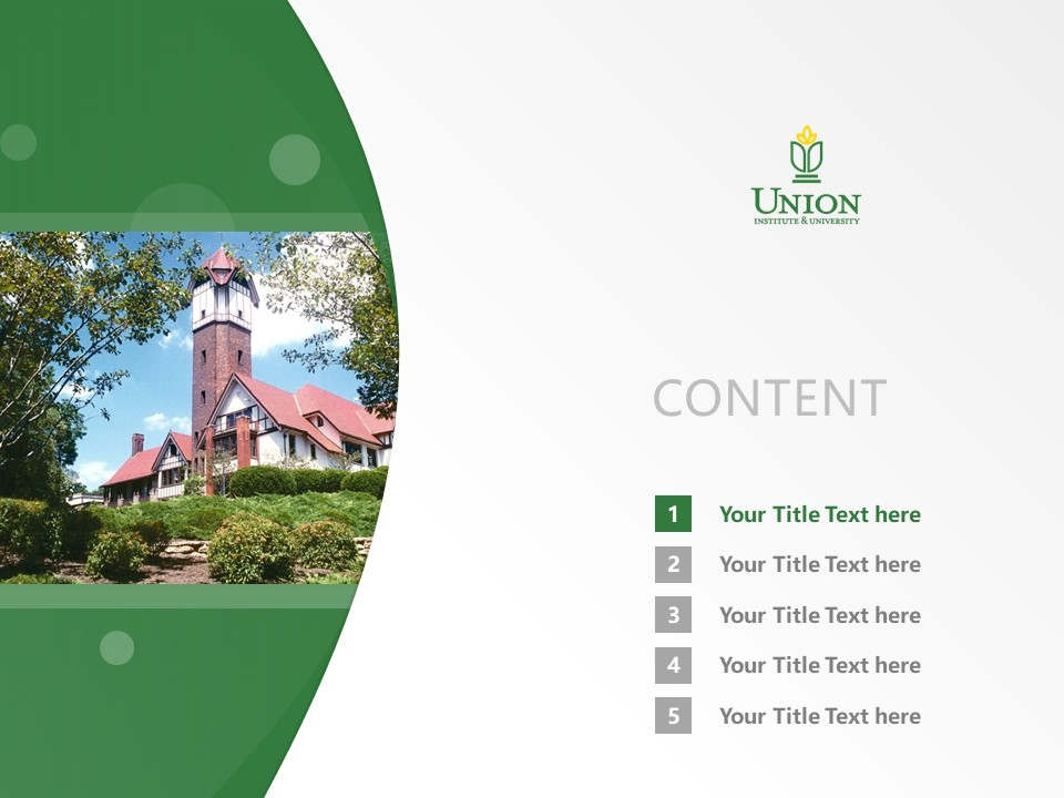 Union Institute & University Powerpoint Template Download | 辛辛那提联合学院与大学PPT模板下载_幻灯片2