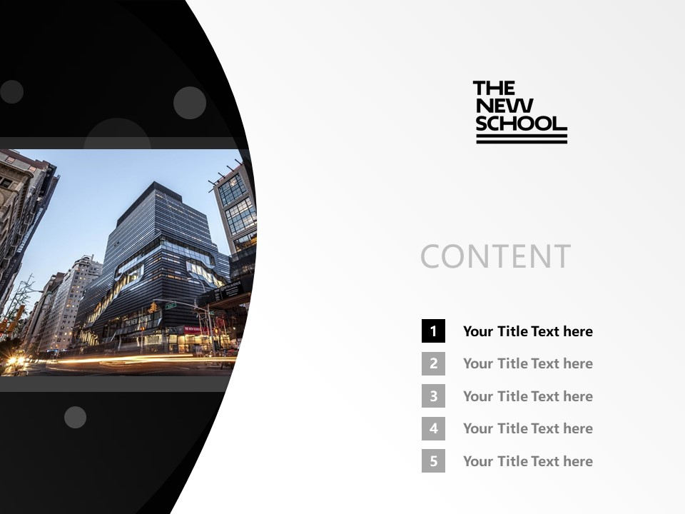 The New School Powerpoint Template Download | 新学院大学PPT模板下载_幻灯片2