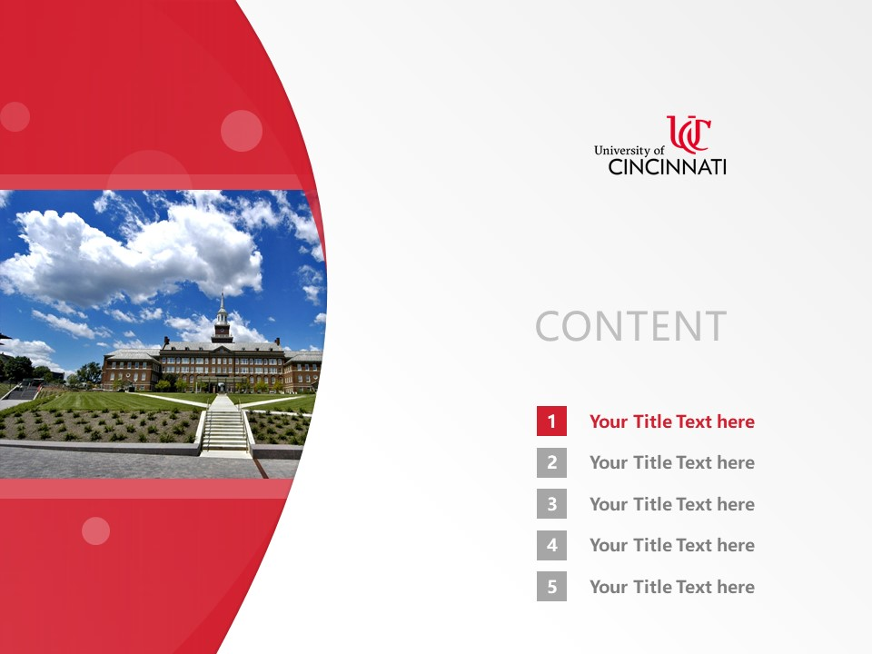 University of Cincinnati-Raymond Walters College Powerpoint Template Download | 辛辛那提大学-雷蒙德沃尔特斯学院PPT模板下载_幻灯片2