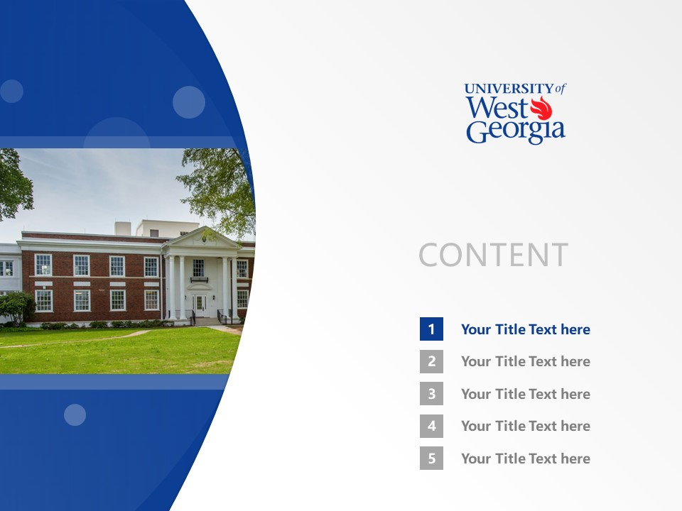 State University of West Georgia Powerpoint Template Download | 西乔治亚州立大学 PPT模板下载_幻灯片2
