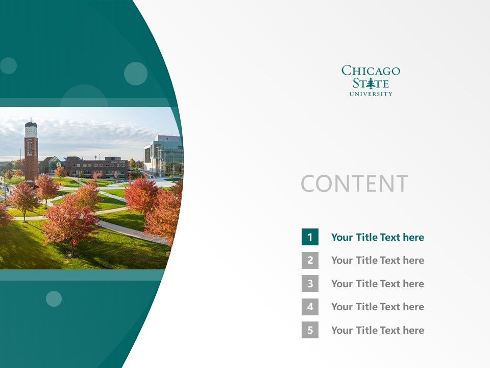 Chicago State University Powerpoint Template Download | 芝加哥州立大学PPT模板下载_幻灯片2