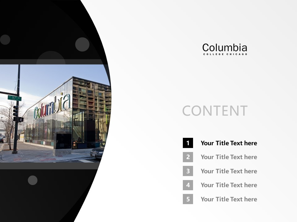 Columbia College Chicago Powerpoint Template Download | 芝加哥哥伦比亚学院PPT模板下载_幻灯片2