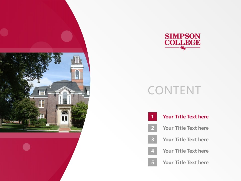 Simpson College Powerpoint Template Download | 辛普森学院PPT模板下载_slide2