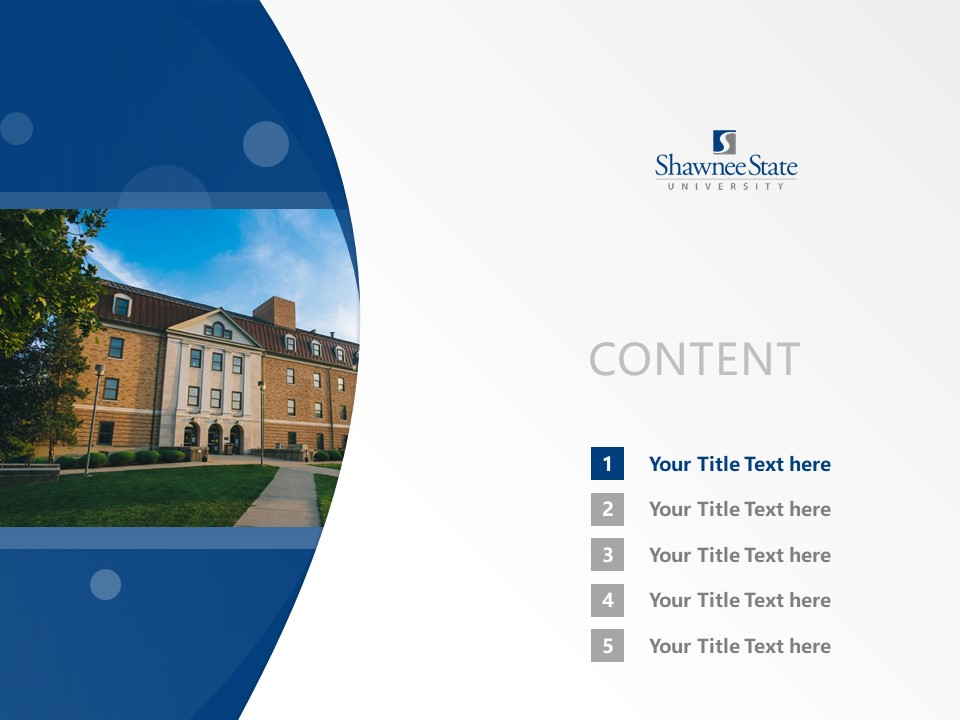 Shawnee State University Powerpoint Template Download | 肖尼州立大学PPT模板下载_幻灯片2