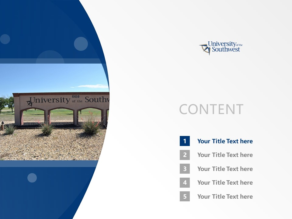 University of the Southwest Powerpoint Template Download | 西南学院PPT模板下载_幻灯片2