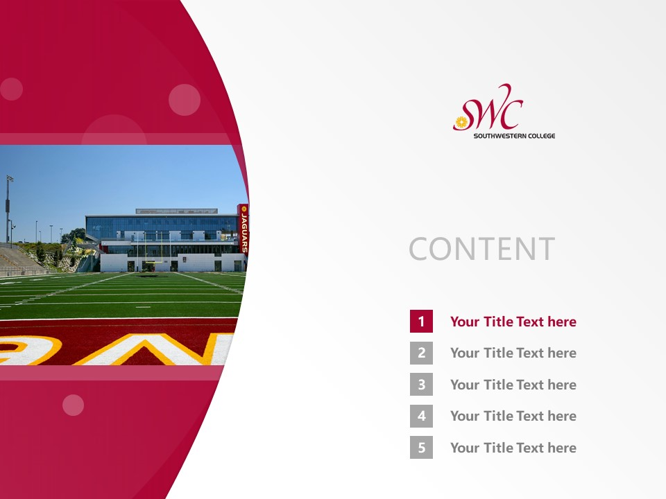 Southwestern College Powerpoint Template Download | 西南学院PPT模板下载_幻灯片2