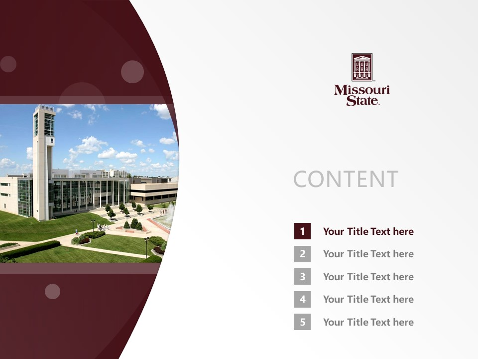 Missouri State University Powerpoint Template Download | 密苏里州立大学PPT模板下载_slide2