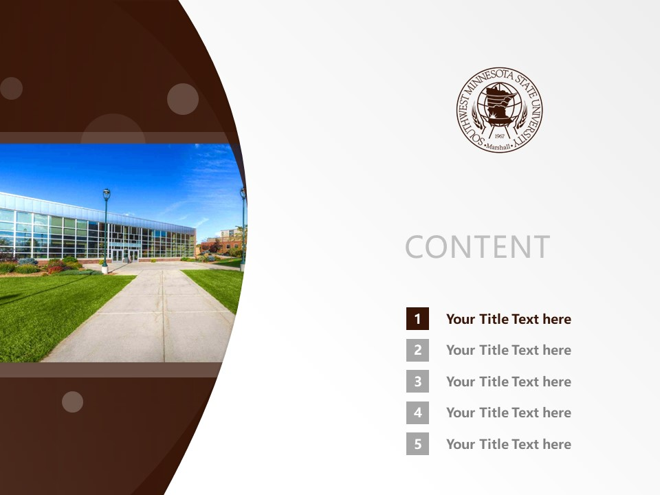 Southwest Minnesota State University Powerpoint Template Download | 西南明尼苏达州立大学PPT模板下载_幻灯片预览图2