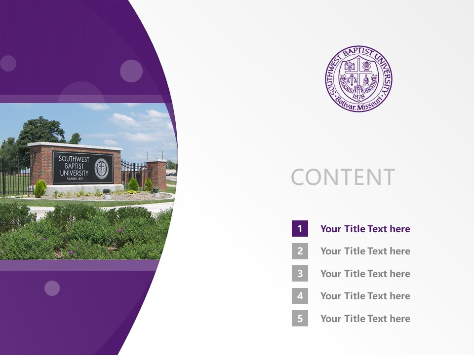 Southwest Baptist University Powerpoint Template Download | 西南浸会大学PPT模板下载_幻灯片2