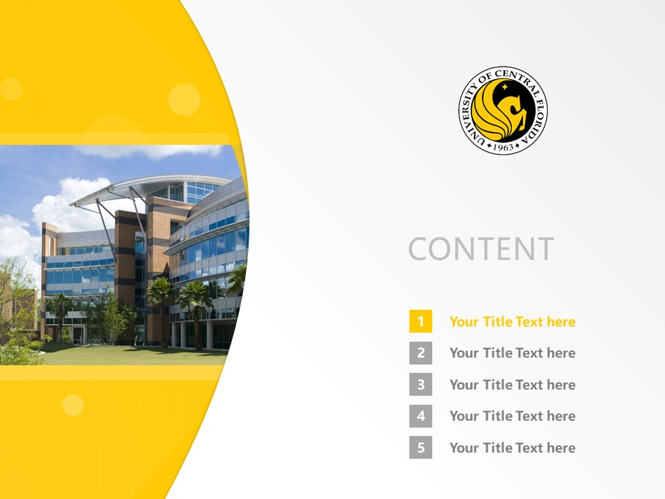 University of Central Florida Powerpoint Template Download | 中佛罗里达大学PPT模板下载_slide2
