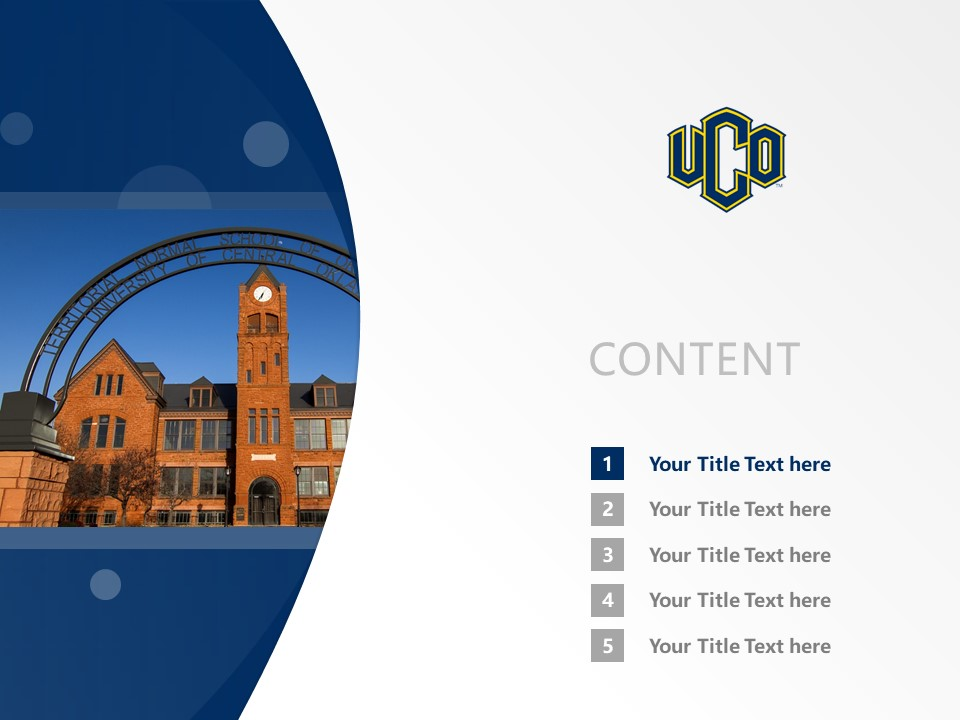 University of Central Oklahoma Powerpoint Template Download | 中俄克拉荷马大学PPT模板下载_幻灯片2
