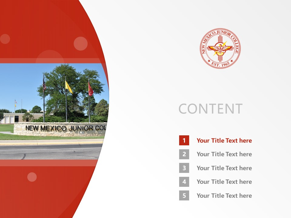 New Mexico Junior College Powerpoint Template Download | 新墨西哥初级学院PPT模板下载_幻灯片2