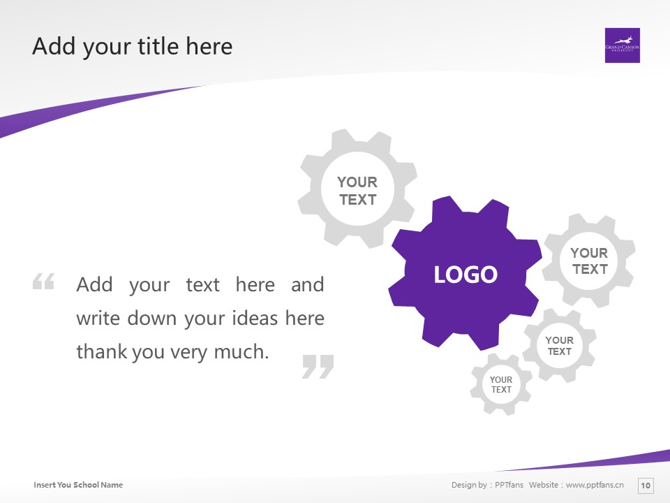 Grand Canyon University Powerpoint Template Download | 大峡谷大学PPT模板下载_slide10