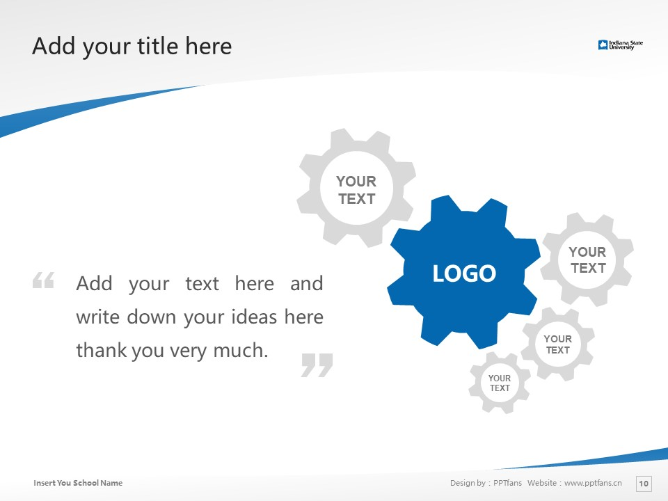 Indiana State University Powerpoint Template Download | 印第安纳州立大学PPT模板下载_slide10