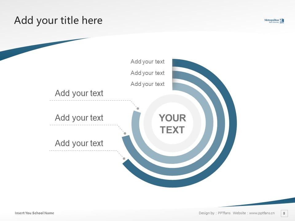 Metropolitan State University Powerpoint Template Download | 州立大都会大学PPT模板下载_幻灯片5