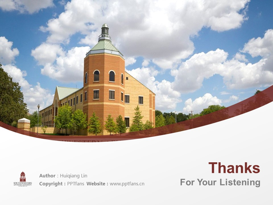 Southwestern Adventist University Powerpoint Template Download | 西南基督复临大学PPT模板下载_slide19