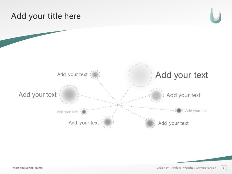 Kaisei Gakuen Colledes Powerpoint Template Download | 郡山女子大学PPT模板下载_slide9