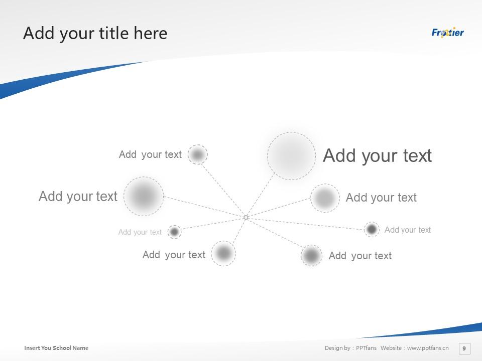 Ube Frontier University Powerpoint Template Download | 宇部开拓大学PPT模板下载_slide9