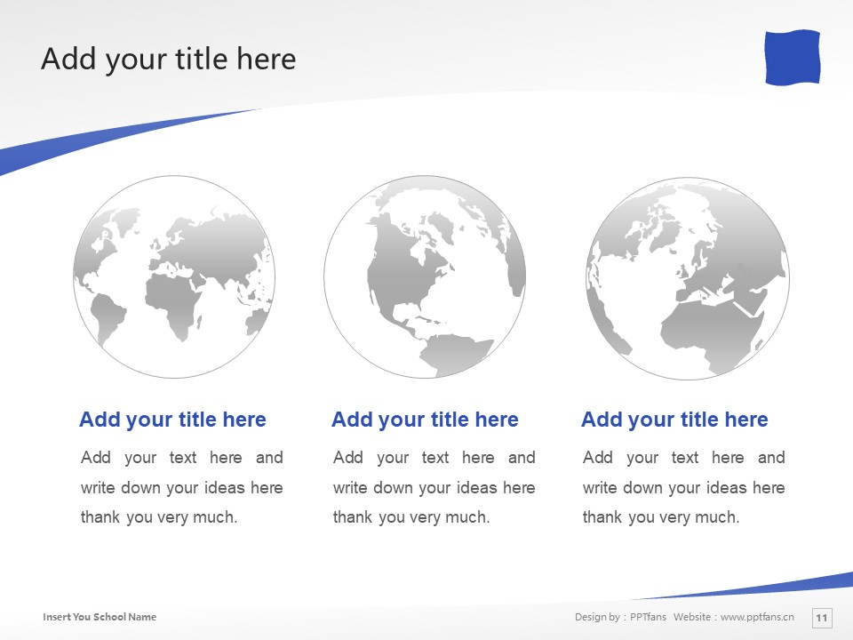 Shizuoka University of Art and Culture Powerpoint Template Download | 静冈文化艺术大学PPT模板下载_slide11