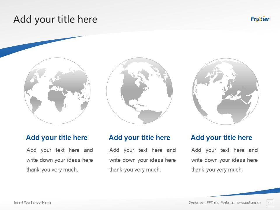 Ube Frontier University Powerpoint Template Download | 宇部开拓大学PPT模板下载_slide11