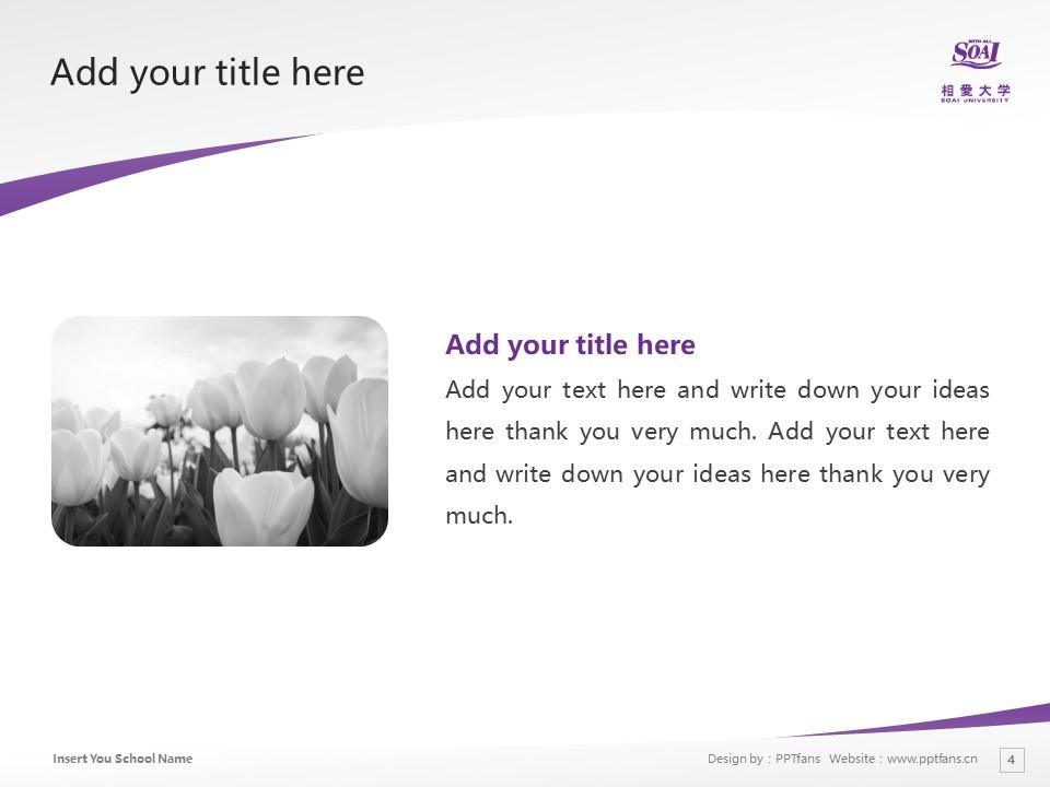 Soai University Powerpoint Template Download | 相爱大学PPT模板下载_slide4