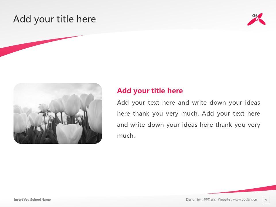 Ohkagakuen University Powerpoint Template Download | 樱花学园大学PPT模板下载_slide4