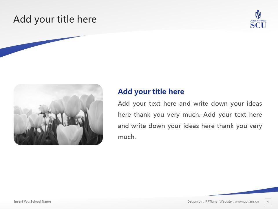 St. Catherine University Powerpoint Template Download | 圣卡塔利娜女子大学PPT模板下载_slide4