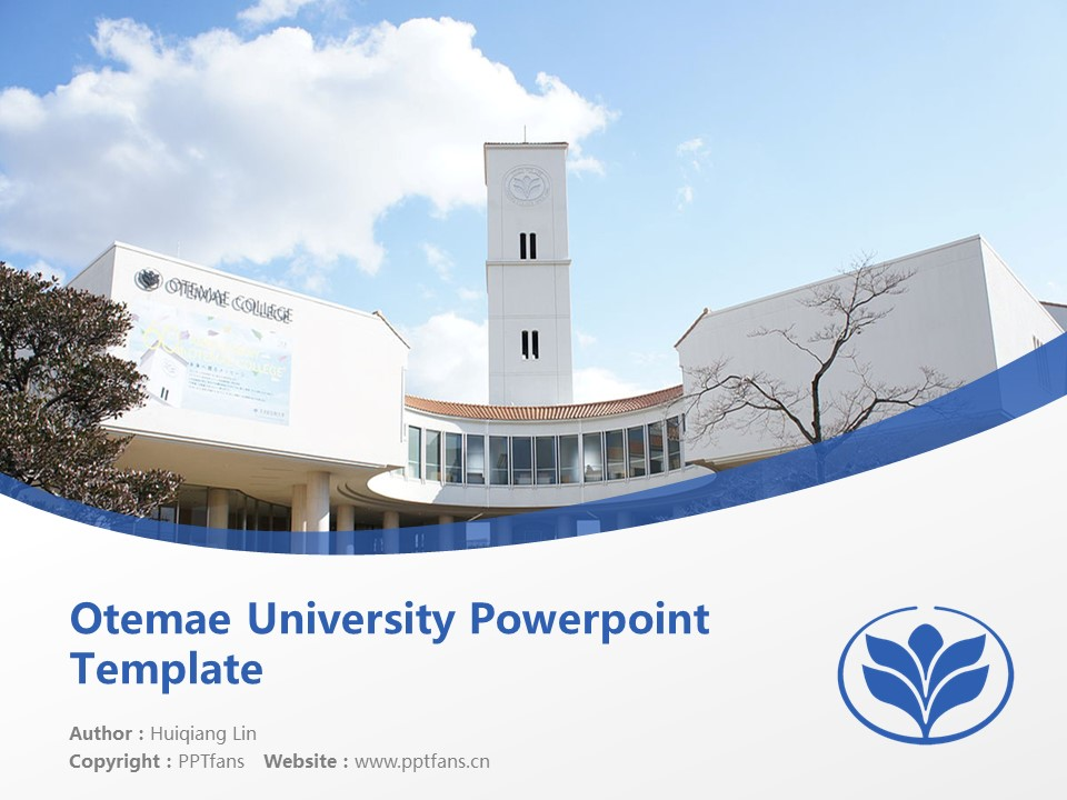 Otemae University Powerpoint Template Download | 大手前大学PPT模板下载_幻灯片1