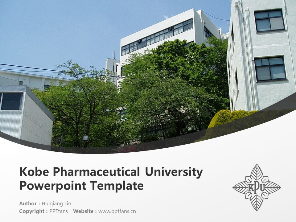 Kobe Pharmaceutical University Powerpoint Template Download | 神户药科大学PPT模板下载_幻灯片1
