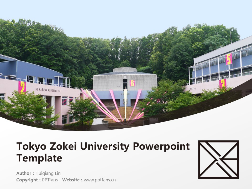 Tokyo Zokei University Powerpoint Template Download | 东京造形大学PPT模板下载_slide1