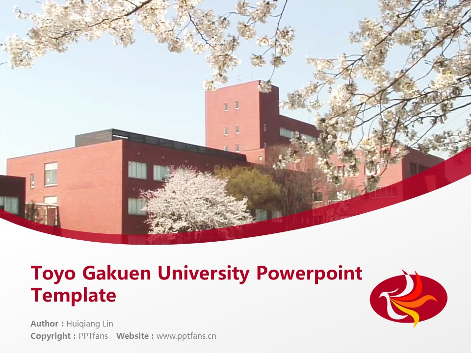 Toyo Gakuen University Powerpoint Template Download | 东洋学园大学PPT模板下载_slide1