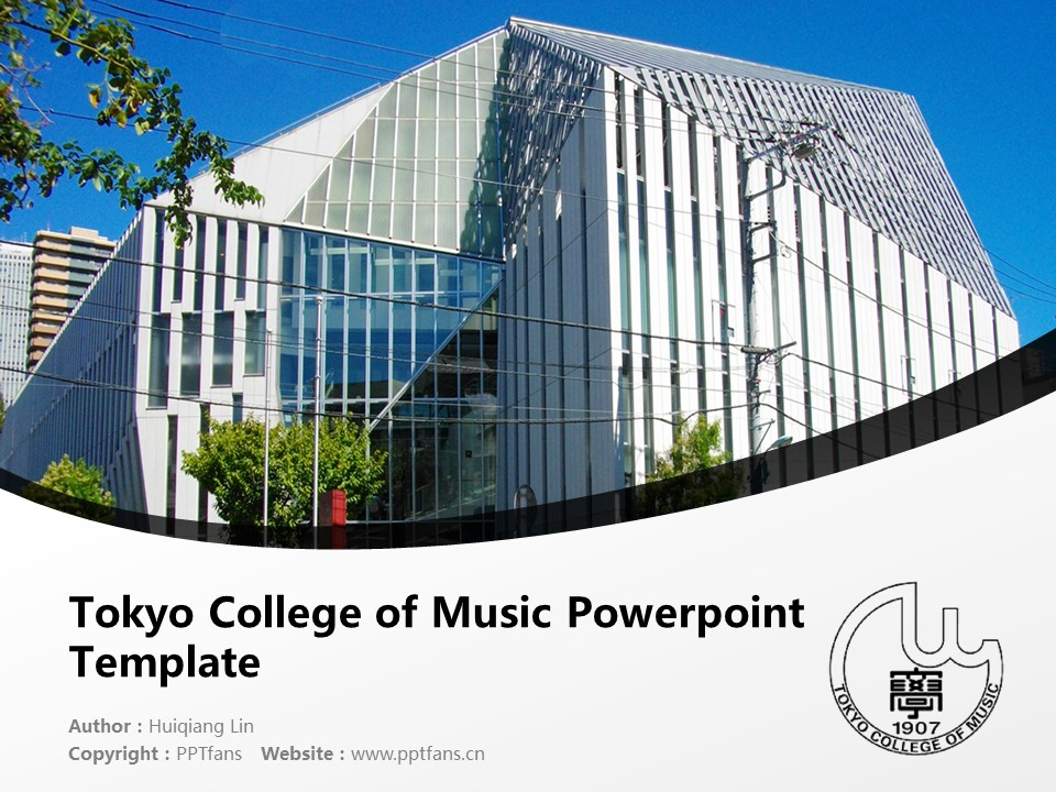 Tokyo College of Music Powerpoint Template Download | 东京音乐大学PPT模板下载_幻灯片1