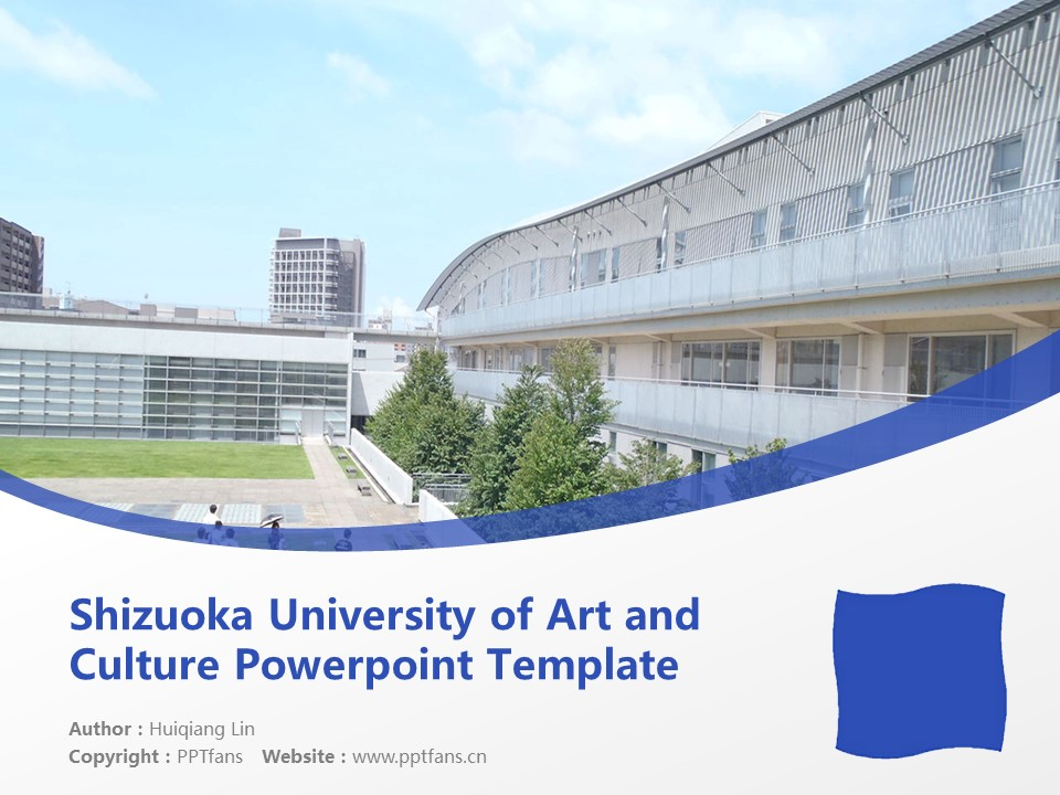 Shizuoka University of Art and Culture Powerpoint Template Download | 静冈文化艺术大学PPT模板下载_slide1