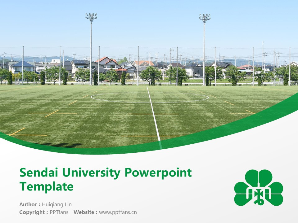 Sendai University Powerpoint Template Download | 仙台大学PPT模板下载_幻灯片1
