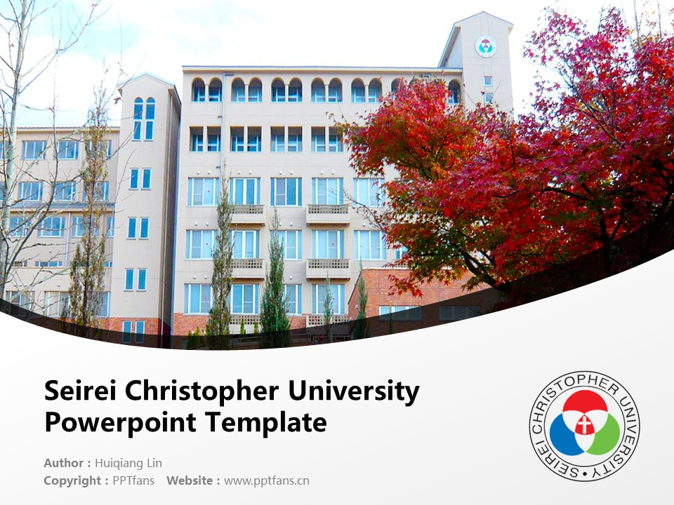 Seirei Christopher University Powerpoint Template Download | 圣隷克里斯多佛看护大学PPT模板下载_幻灯片1