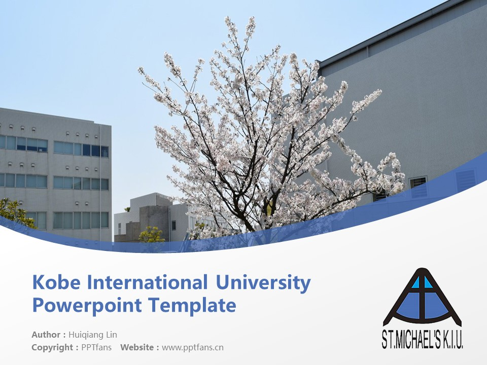 Kobe International University Powerpoint Template Download | 神户国际大学PPT模板下载_幻灯片1