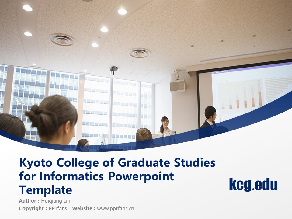Kyoto College of Graduate Studies for Informatics Powerpoint Template Download | 京都信息大学院大学PPT模板下载_slide1