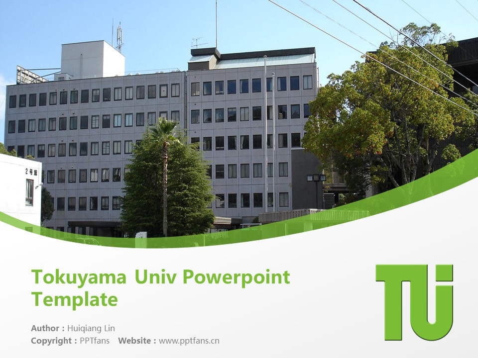 Tokuyama Univ Powerpoint Template Download | 德山大学PPT模板下载_幻灯片1