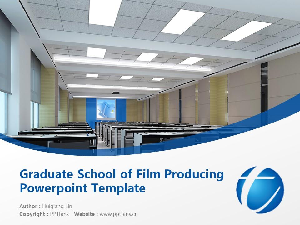 Graduate School of Film Producing Powerpoint Template Download | 映画专门大学院大学PPT模板下载_slide1