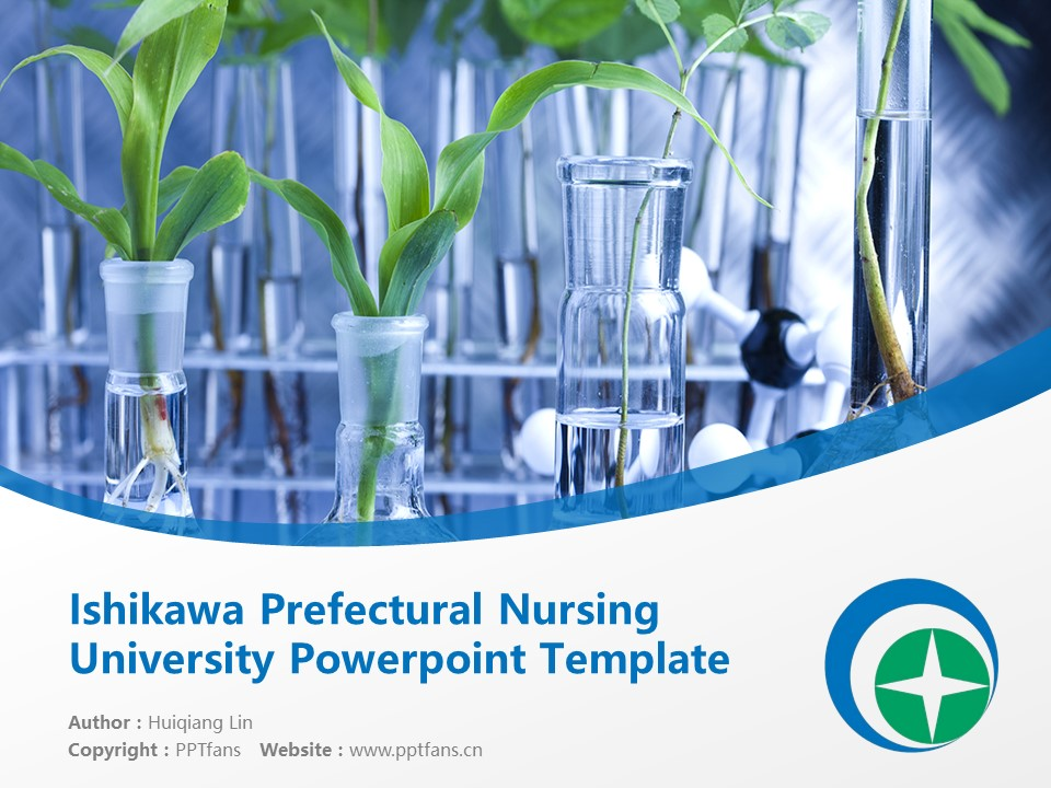 Ishikawa Prefectural Nursing University Powerpoint Template Download | 石川县立看护大学PPT模板下载_幻灯片1