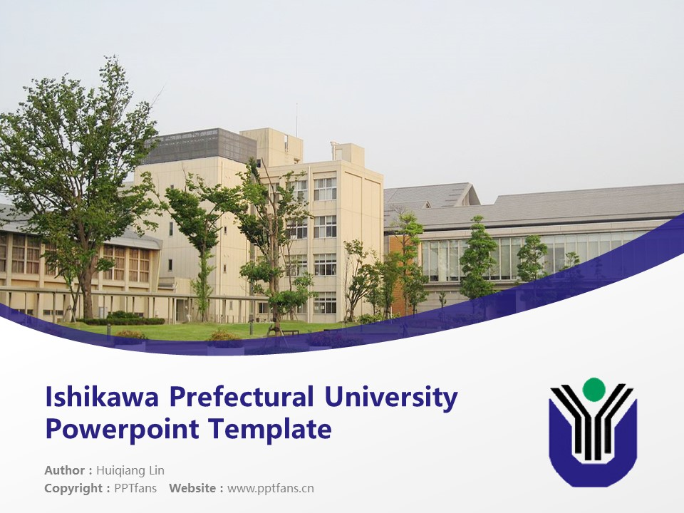 Ishikawa Prefectural University Powerpoint Template Download | 石川县立大学PPT模板下载_slide1